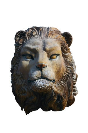 Wood Lion Stock Photo