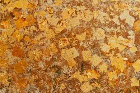 Gold leaf wall for your background  photo