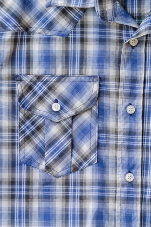 Closeup of Blue Tartan plaid Pocket Stock Photo - 16293762