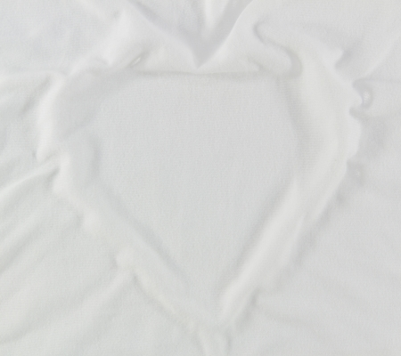 White fabric heart shape  Stock Photo - 17170172