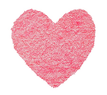 Red heart texture isolated on white Stock Photo