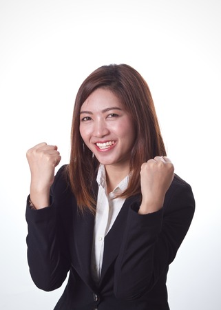 Businesswoman who succeed in her job  photo