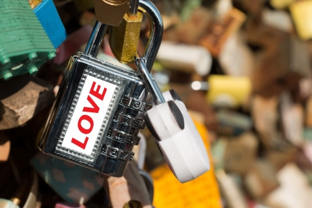 Cocked key at Seoul tower