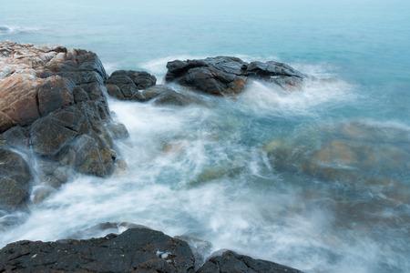Seashore in morning at Samed island, Thailand Stock Photo