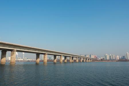 Han river at seoul city