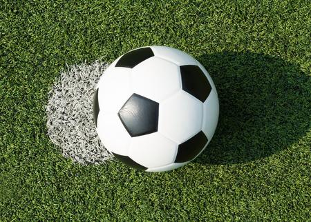 Football on white point Stock Photo