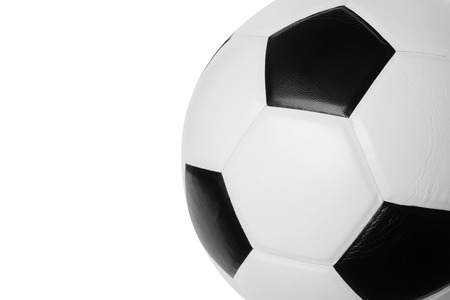 Football isolated on white