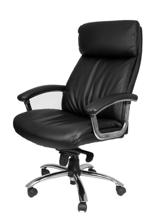 arms chair: Office chair isolated on white