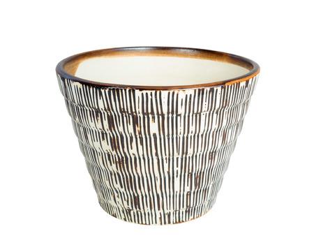ceramics flower pot Isolated on White