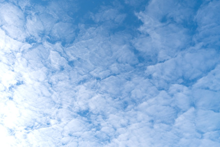 Pattern of cloud on blue sky