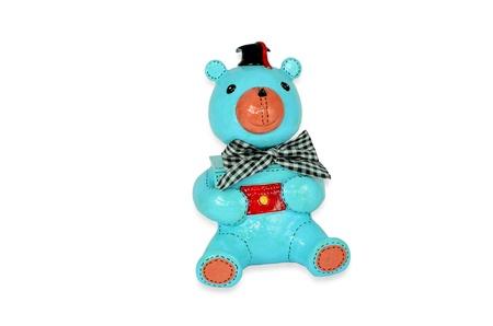 Blue bear papermache graduation gift photo