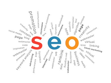 backlink: SEO concept in tag cloud