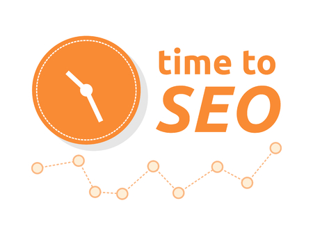 backlink: Time to SEO word combined with clock and graph