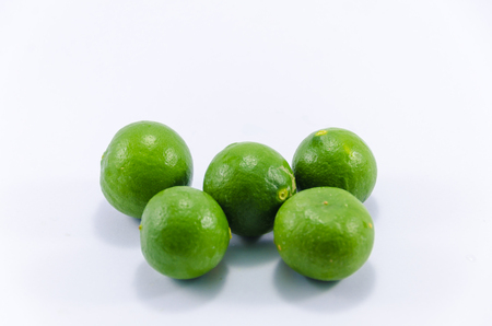 Lemons isolated with white background Imagens