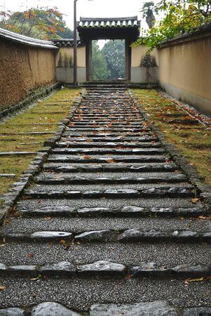 Japanese-styled Walking path in Nara, Japan
