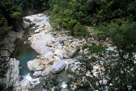 Scenic of Shakadang Trail in Taroko National Park, Taiwan on 30 April 2017