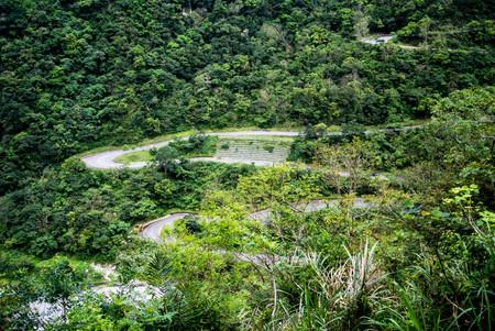 Road to Scenic viewpoint, Taroko national park Stock Photo