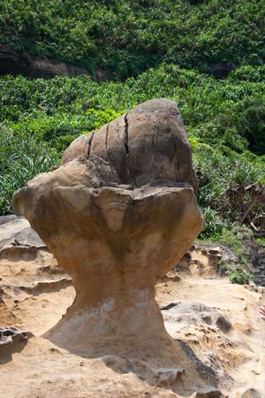 Ice cream rock, Yehliu geopark in Taiwan