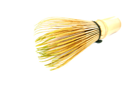 Hand Held Bamboo Tea Whisk for Matcha Tea Stock Photo