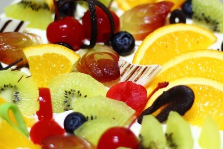 ミックス フルーツ ケーキ 写真素材