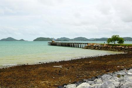 桟橋と海の風景 写真素材
