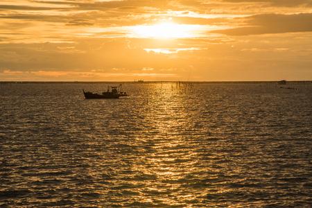 chonburi: Sunset at chonburi, Thailand. Stock Photo