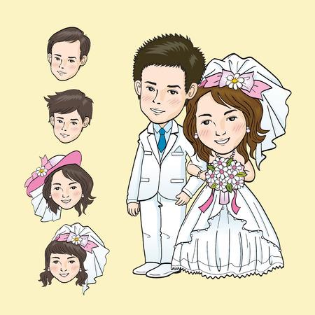 closeness: Wedding Cartoon