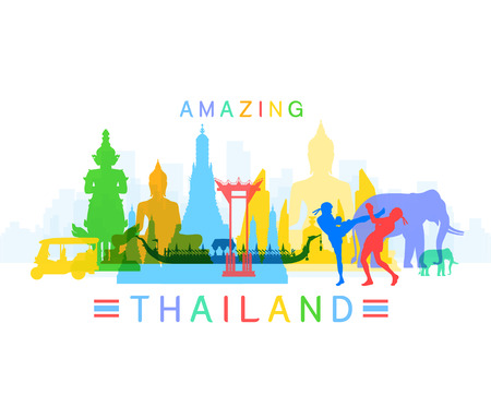 Amazing Thailand Stock Vector - 30334310