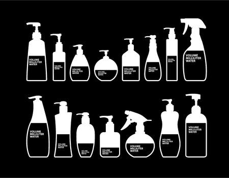 cosmetic bottle: Cosmetics Bottle Packaging Vector Illustration