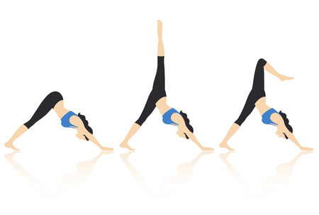 abdominal exercise: Yoga Actions Vector
