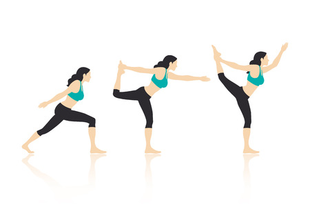 flexible sexy: Yoga Actions Vector