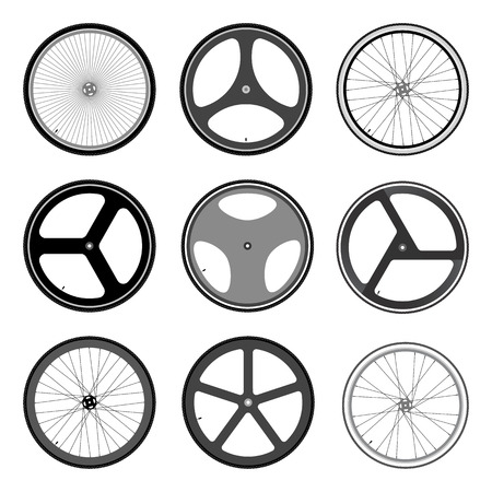 pedaling: BICYCLE WHEEL Illustration