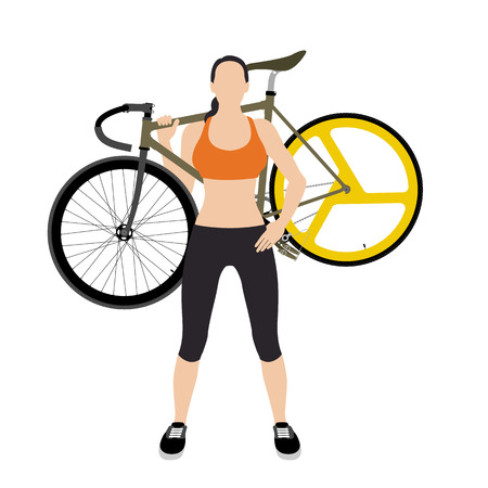 fixed: Cyclists and fixed gear bicycle