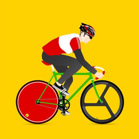 fixed: Los ciclistas y bicicletas artes fijos