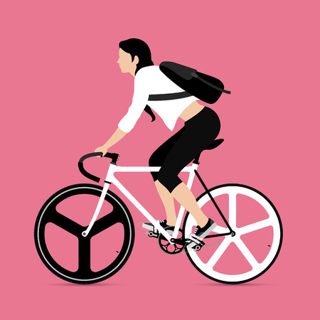 Cyclistes et des engins vélo fixe