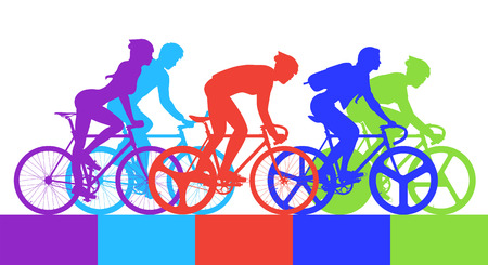 bicycle race: Cyclist in the bicycle race