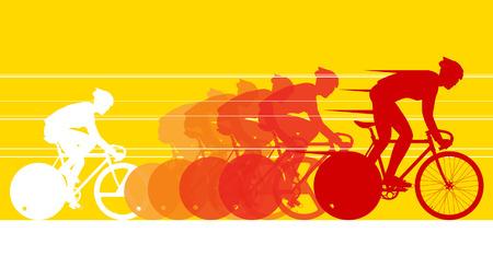 clavados: Ciclista en la carrera de bicicleta Vectores