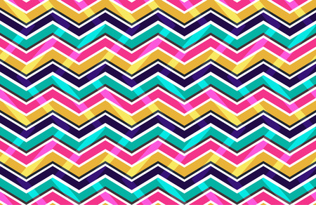 zig zag: Pink yellow and blue zig zag seamless pattern, vector illustration