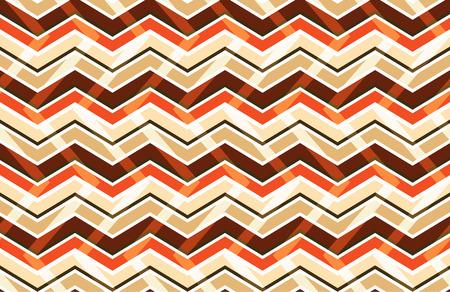 zig: Brown zig zag seamless pattern, vector illustration