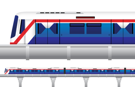 Sky Train in Bangkok, Thailand Vector