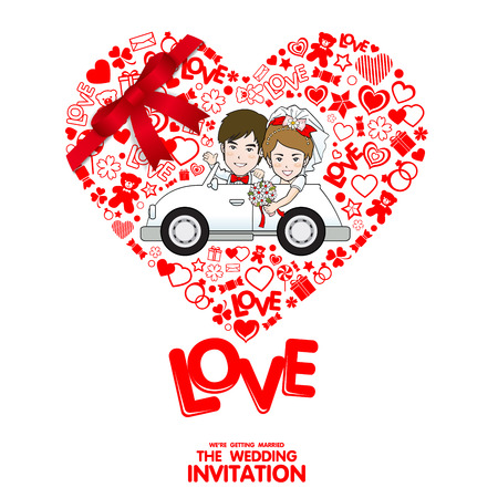 intimacy: Wedding Invitation Card. Valentine Card. Vector and illustration