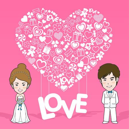 closeness: Wedding Invitation Card. Valentine Card. Vector and illustration