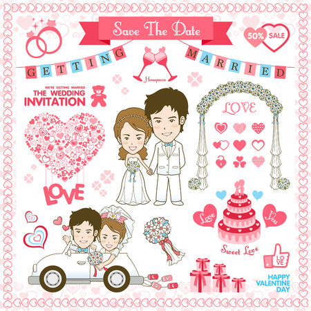Save the date. Vector and illustration Vector