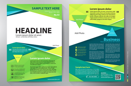 Brochure design a4 template. Vector illustration