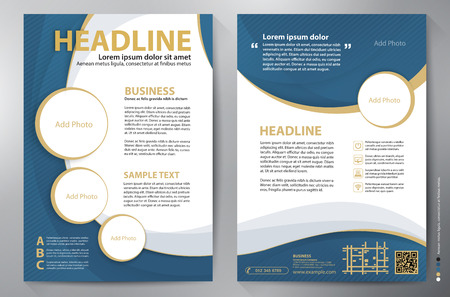 Brochure design a4 template.  向量圖像