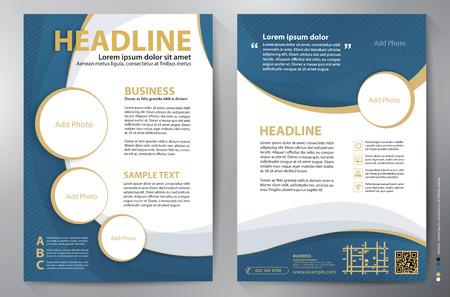 Brochure design a4 template.  Illustration