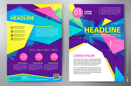 catalog background: Brochure design a4 template. Vector illustration