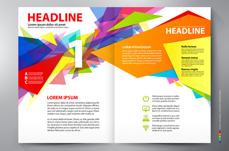 report cover: Brochure design a4 template. Vector illustration
