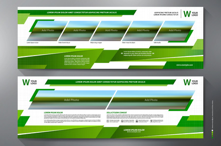 Exhibition Stand Displays Template for Print. Vector and Illustration. Vector