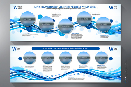 Exhibition Stand Displays Template for Print. Vector and Illustration.